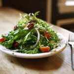Frisee Salad Roasted Garlic Vinaigrette