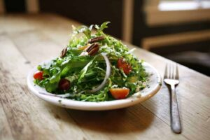 Frisee Salad Roasted Garlic Vinaigrette