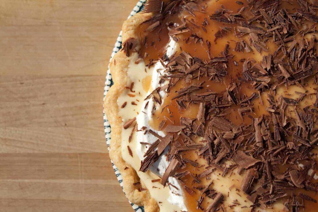 Banana Cream Pie with Salty Bourbon Caramel