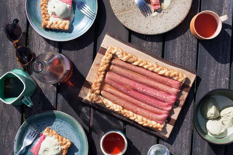 rhubarb-galette