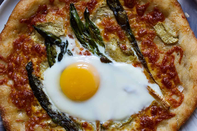 Artichoke and Ramp Pizza