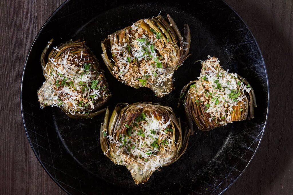 Oven Roasted Artichokes