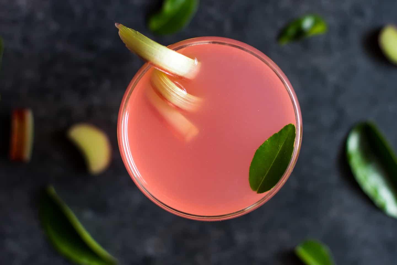 Rhubarb Gin Gimlet