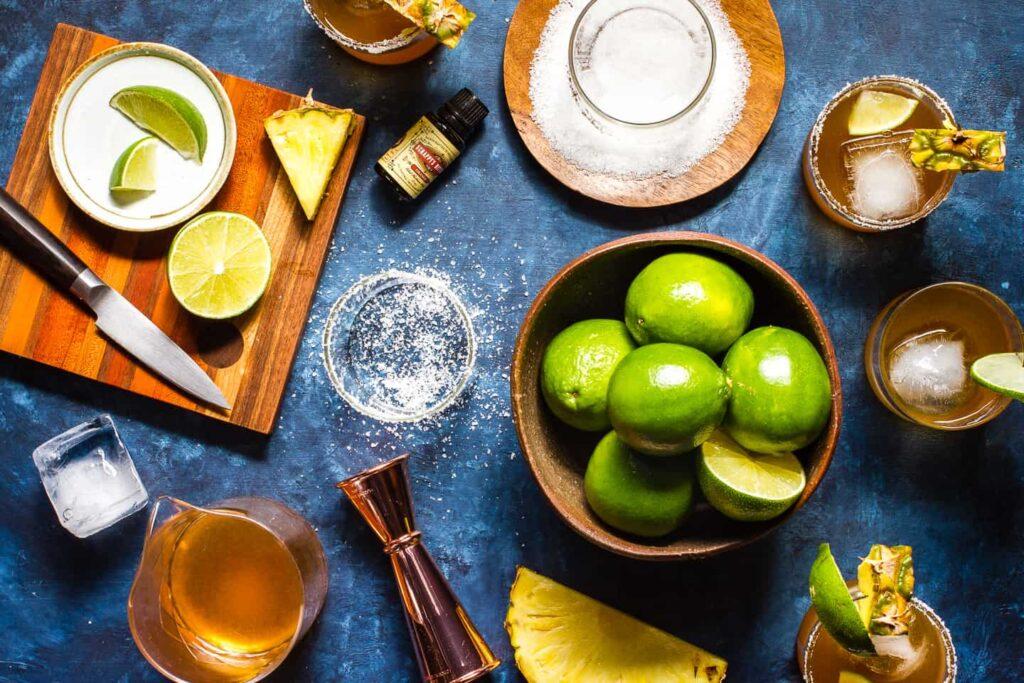 Roasted Pineapple Mezcal Margaritas