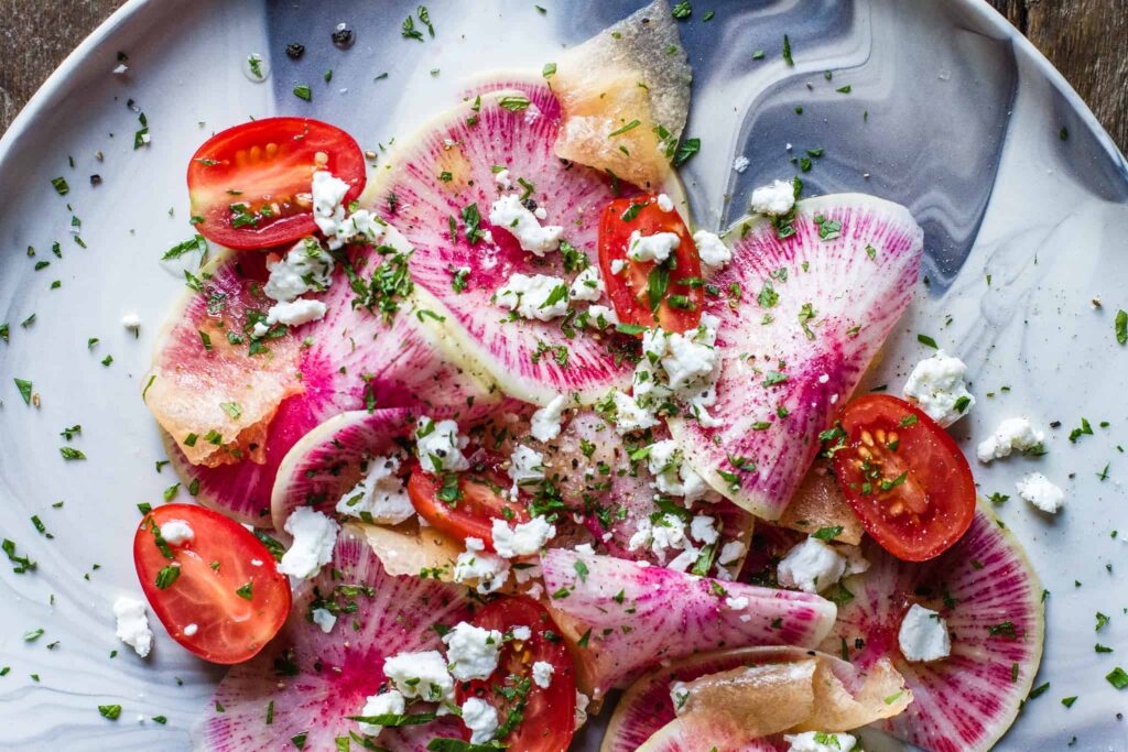Watermelon Radish Salad with Melon