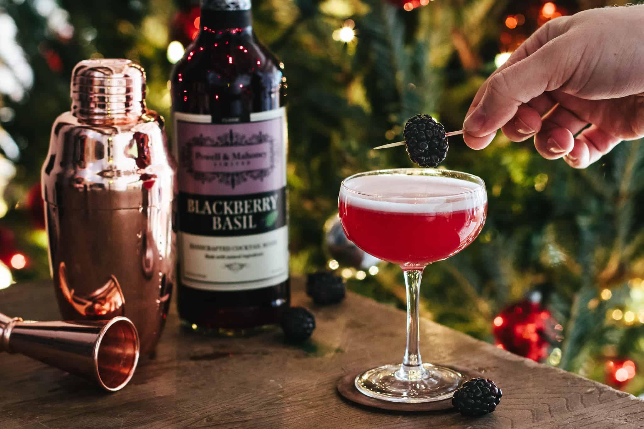 A Black Thai Affair (Blackberry Basil Cocktail)