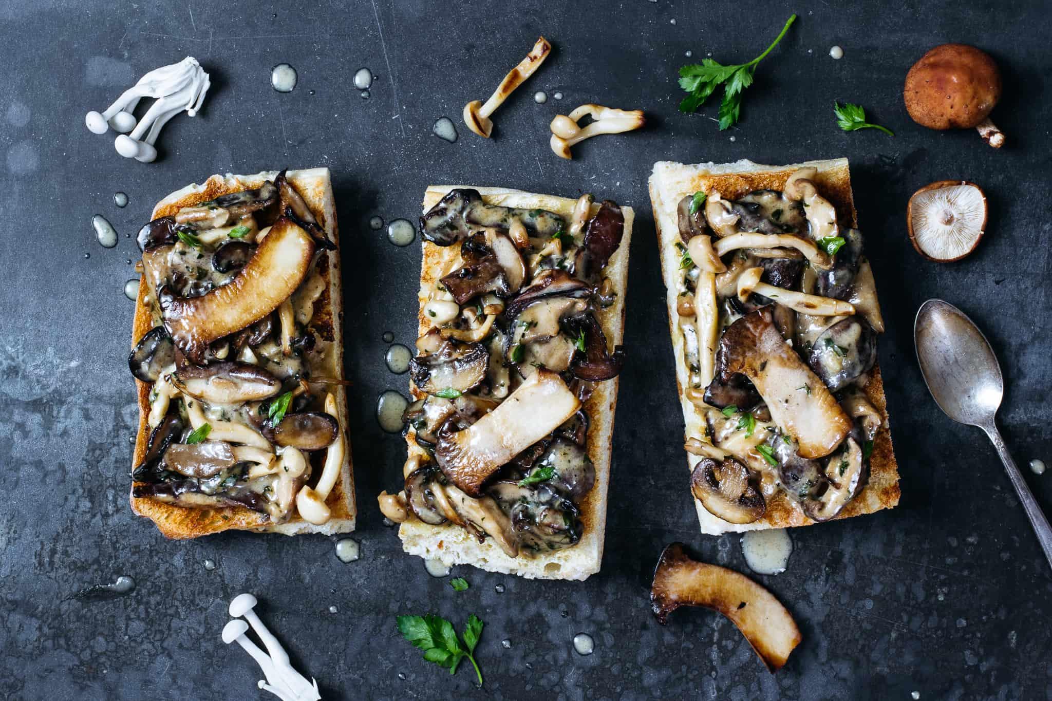 Mushroom Toast + Wolf Gourmet Giveaway