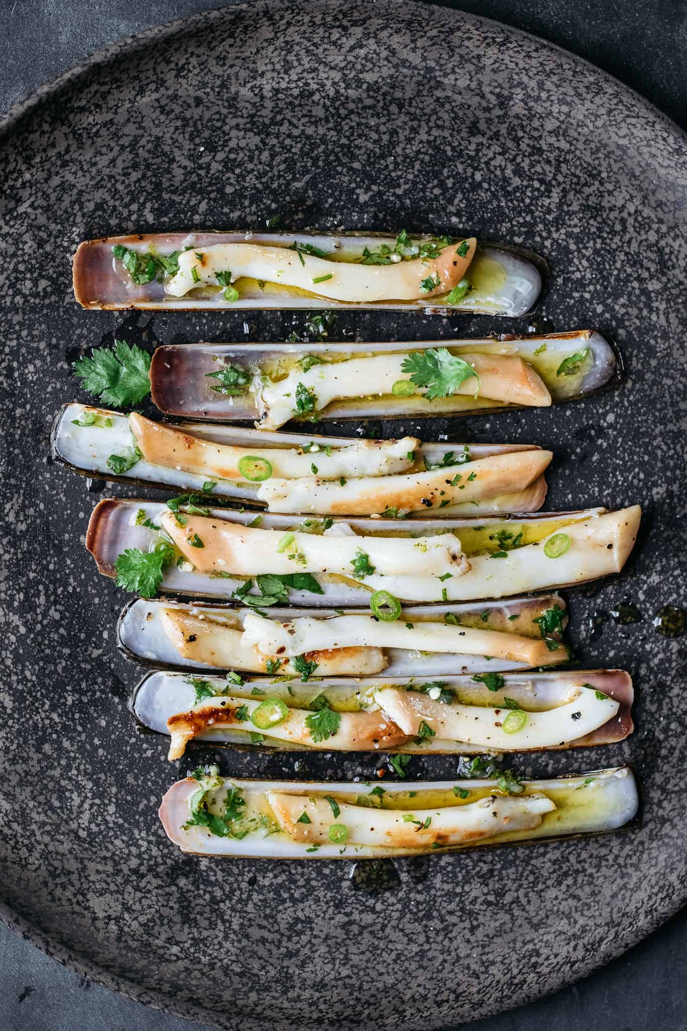 Razor Clams with Chile & Lime