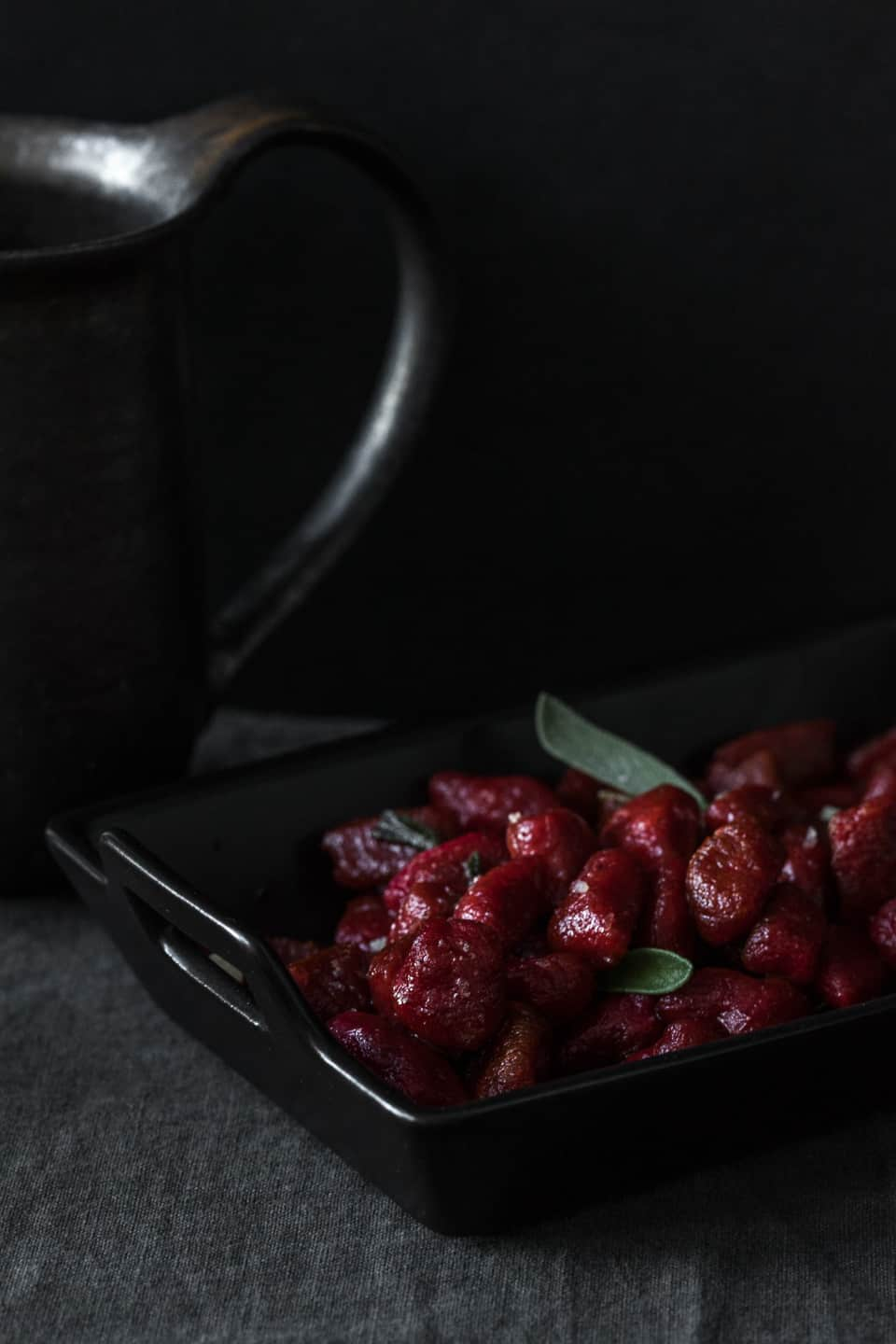 Rikumo Thanksgiving Table Beet Gnocchi with Sage Browned Butter
