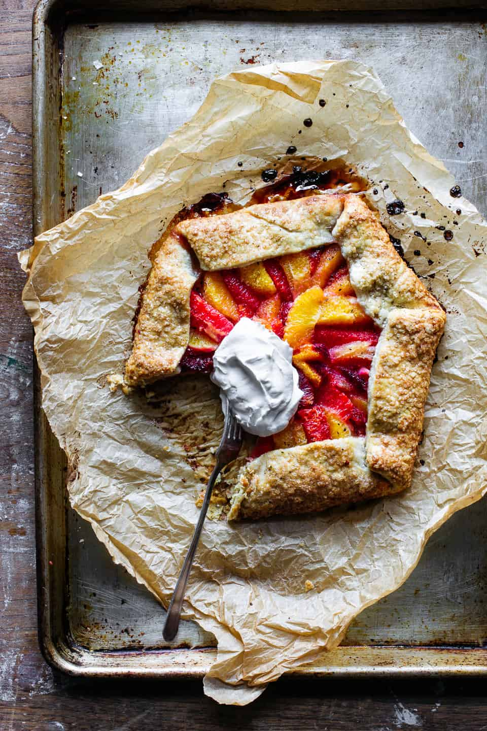Roasted Citrus Galette