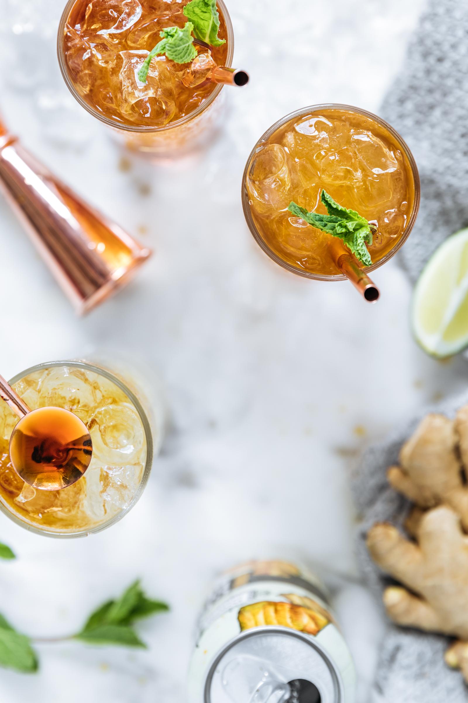 Amaro cocktails with barware