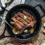 Herb Butter-Basted Ribeye Steak