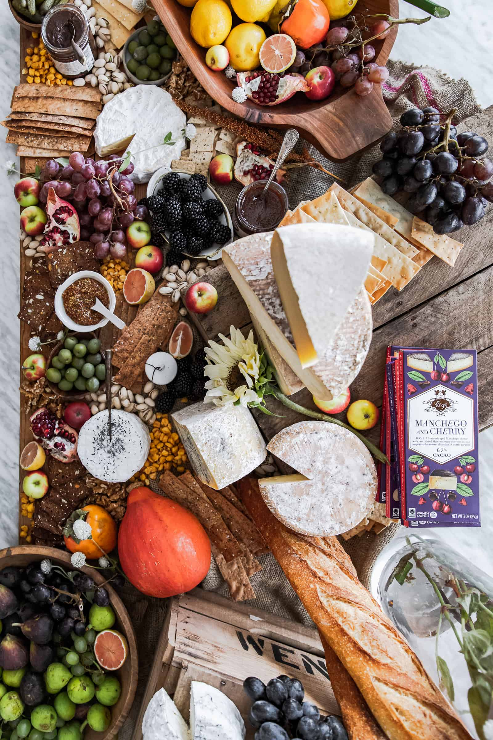 Fall Cheese and Cocktails Workshop Table Cheeseboard
