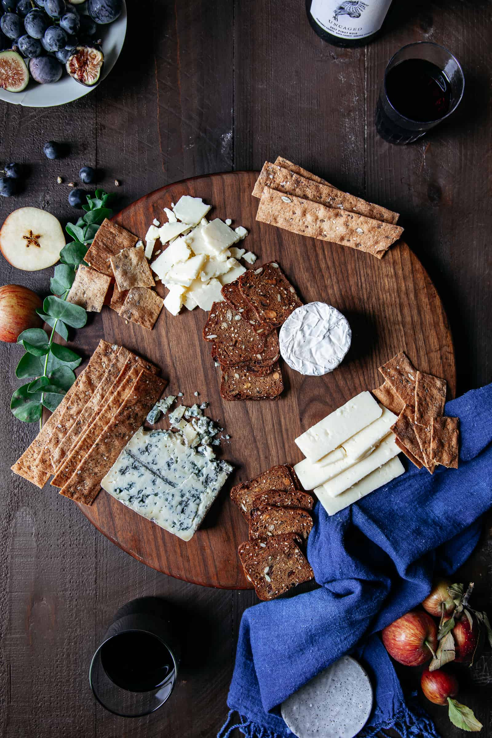 Cheeseboard Styling Step 2 — Add the crackers