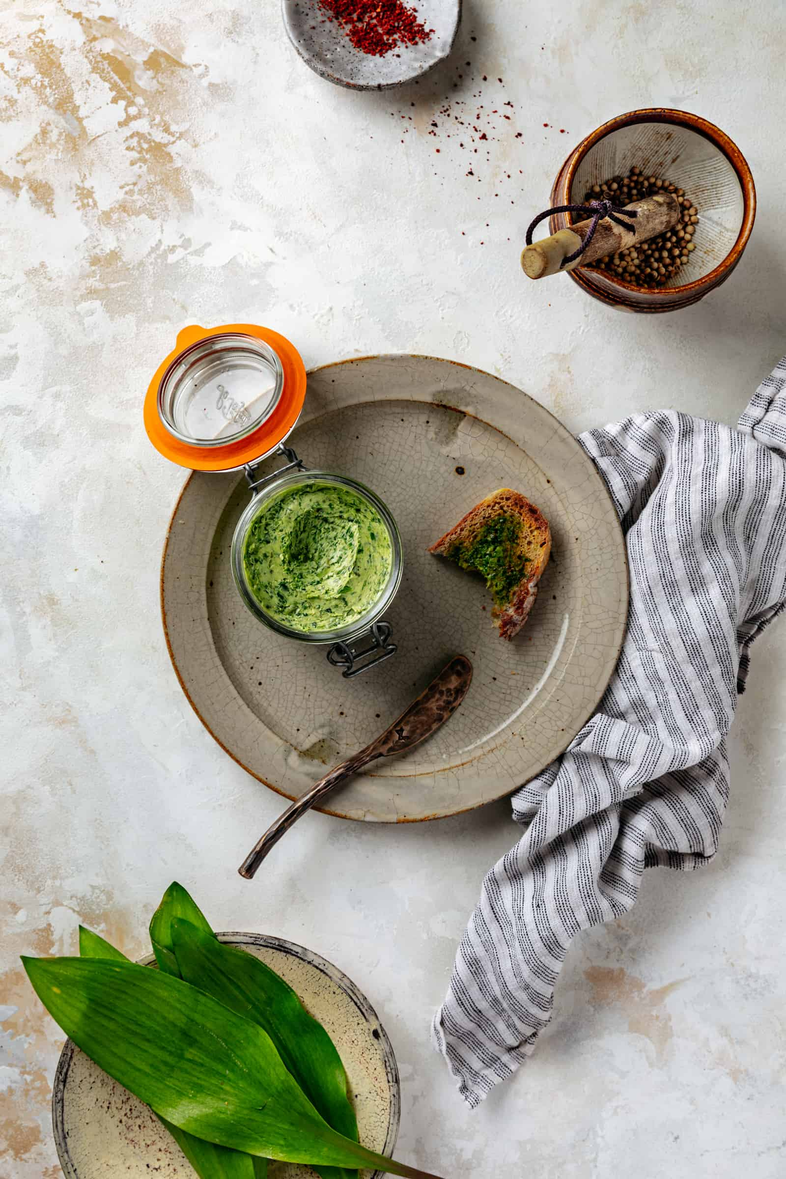 Charred Ramp Butter with Coriander