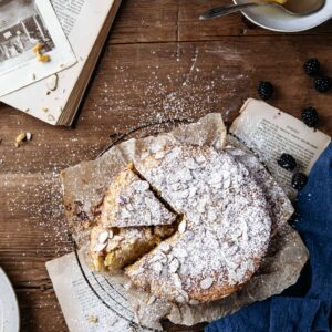 Whole Lemon Almond Cake and Books