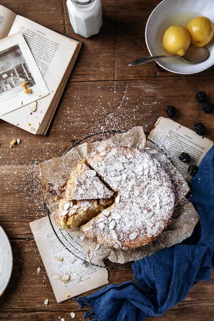 Whole Lemon Almond Cake and Books