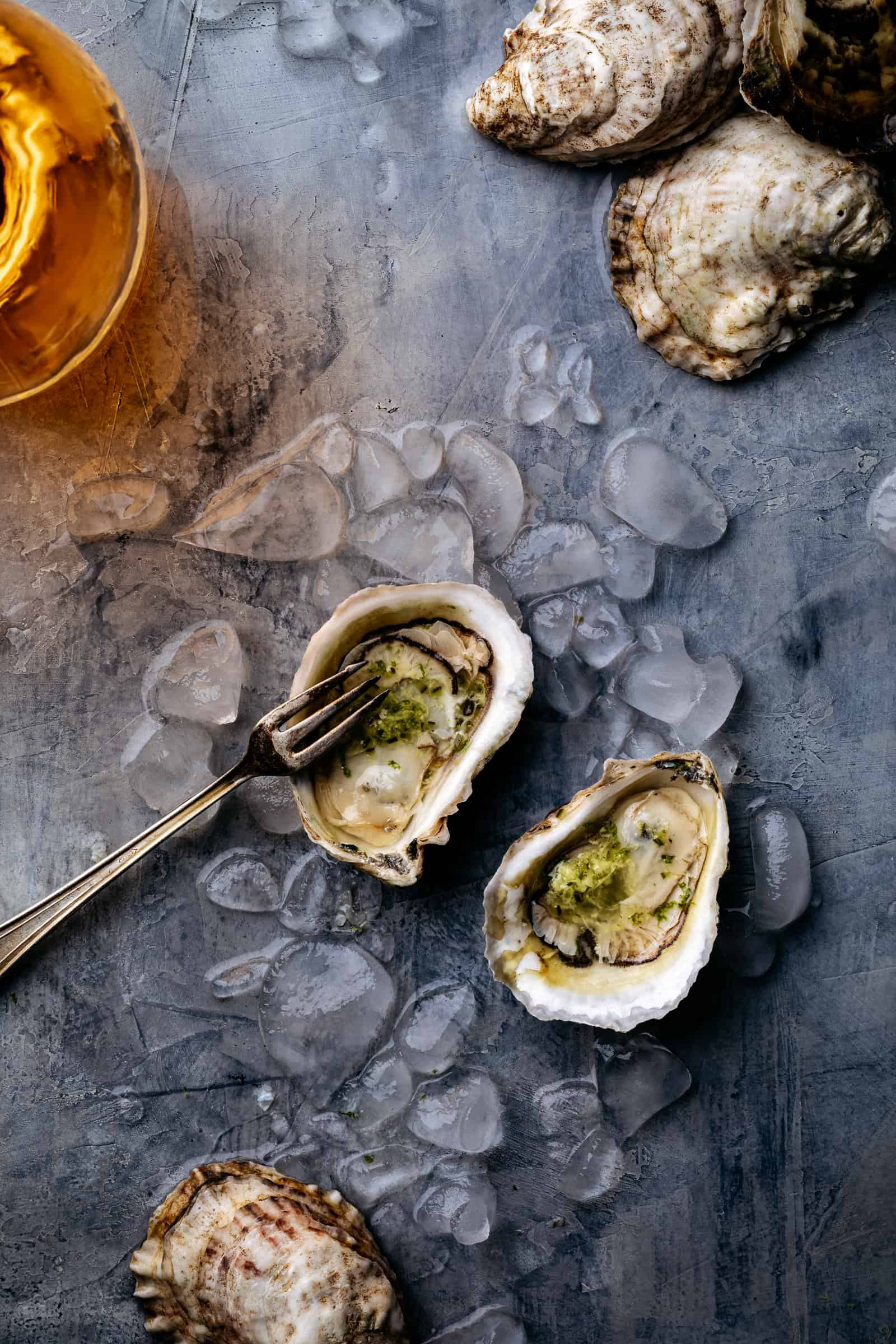 Oysters with Rose Wine
